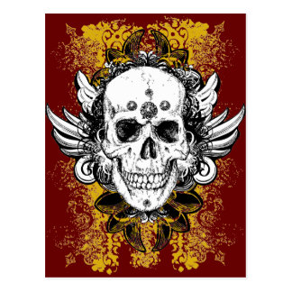 Aztec-Skull Postcards