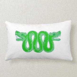 Aztec Snake Huitzilopochtli Throw Pillow
