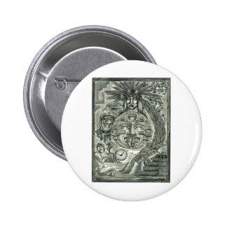 Aztec Spirit 2 Inch Round Button