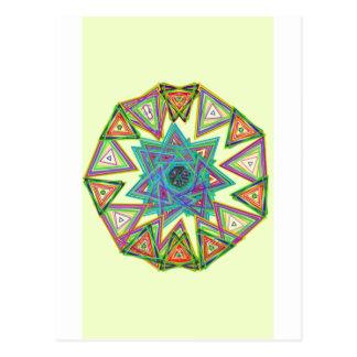 Aztec star postcard