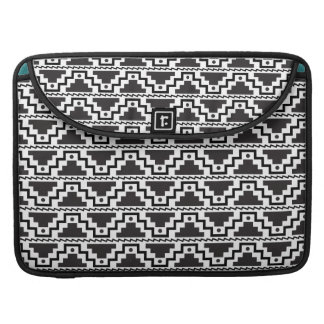 Aztec Step Pyramid Black White Primitive Modern MacBook Pro Sleeve