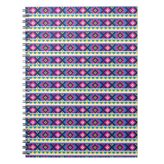 AZTEC   stripes BACKGROUND PATTERNS WALLPAPER TEMP Spiral Notebooks