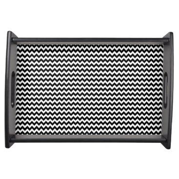 Aztec Themed aztec stripes black white pattern serving tray