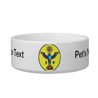 aztec style eagle sun symbols pagan design.png bowl