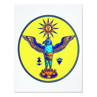 aztec style eagle sun symbols pagan design.png personalized invite