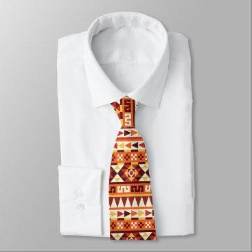Aztec Themed Aztec Style Geometric Pattern Neck Tie