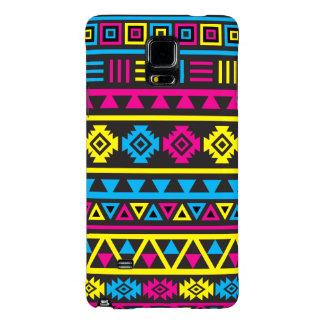 Aztec Style (large) Pattern - CMY & Black Galaxy Note 4 Case