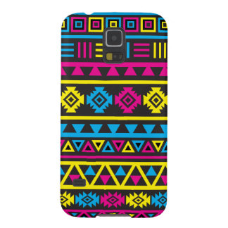 Aztec Style (large) Pattern - CMY & Black Galaxy S5 Cover