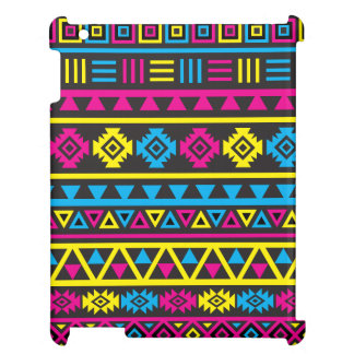 Aztec Style (large) Pattern - CMY & Black iPad Cases