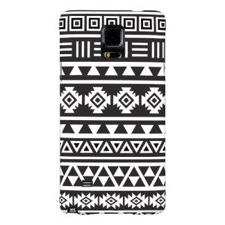 Aztec Style (large) Pattern - Monochrome Galaxy Note 4 Case