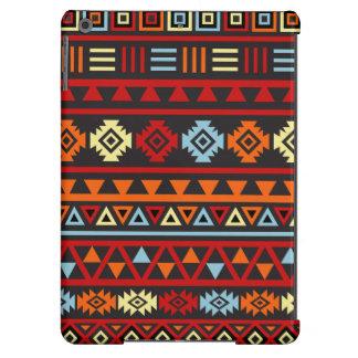 Aztec Style Lg Ptn - Orange Yellow Blue Red & Blk iPad Air Cases