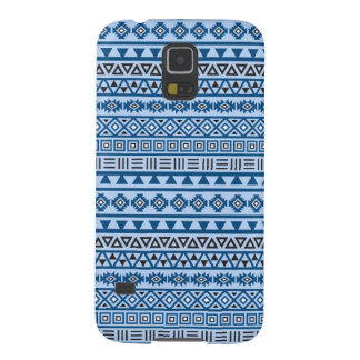 Aztec Style Pattern Blues Black & White Cases For Galaxy S5