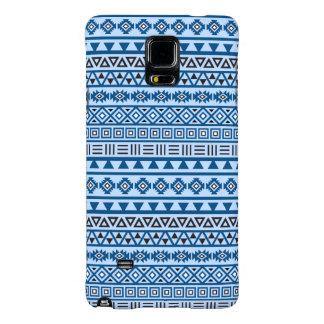 Aztec Style Pattern Blues Black & White Galaxy Note 4 Case