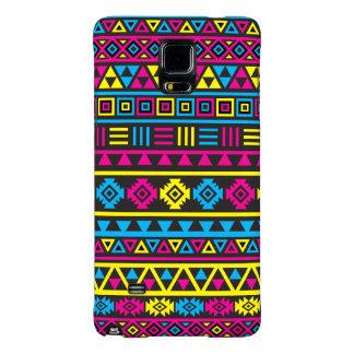 Aztec Style Pattern - CMY & Black Galaxy Note 4 Case
