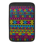 Aztec Style Pattern - CMY & Black Sleeve For MacBook Air