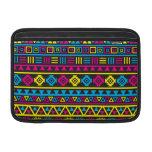 Aztec Style Pattern - CMY & Black MacBook Sleeve