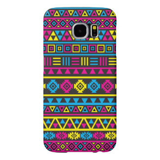 Aztec Style Pattern - CMY & Black Samsung Galaxy S6 Case
