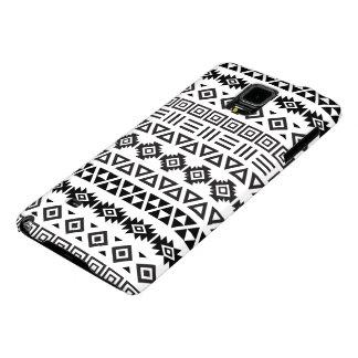 Aztec Style Pattern II (b) - Monochrome Galaxy Note 4 Case
