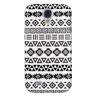 Aztec Style Pattern II (b) - Monochrome Galaxy S4 Cover