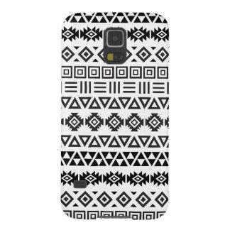 Aztec Style Pattern II (b) - Monochrome Galaxy S5 Cover