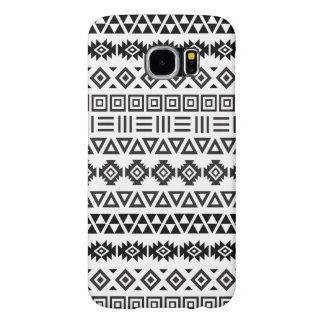 Aztec Style Pattern II (b) - Monochrome Samsung Galaxy S6 Case