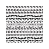 Aztec Style Pattern II – Monochrome Canvas Print
