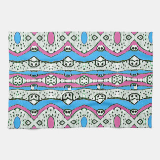 Aztec Style Pattern in Pastel Colors Towel