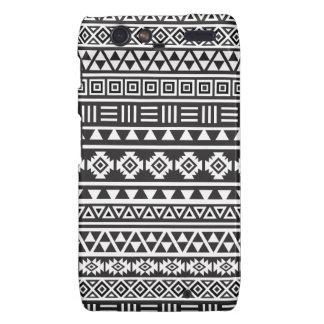 Aztec Style Pattern - Monochrome Motorola Droid RAZR Covers