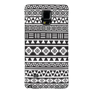 Aztec Style Pattern - Monochrome Galaxy Note 4 Case