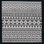 "Aztec Style Pattern - Monochrome Napkin<br><div class=""desc"">An Aztec style pattern in black and white.</div>"