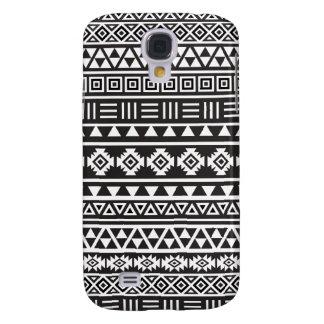 Aztec Style Pattern - Monochrome Samsung S4 Case