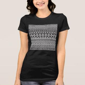 Aztec Style Pattern - Monochrome Shirt