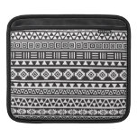 Aztec Style Pattern - Monochrome Sleeves For iPads