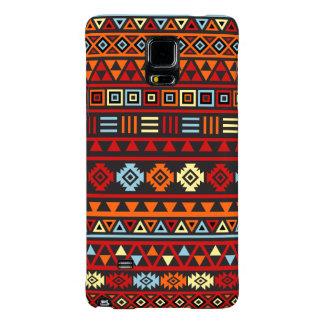 Aztec Style Pattern - Orange Yellow Blue Red & Blk Galaxy Note 4 Case