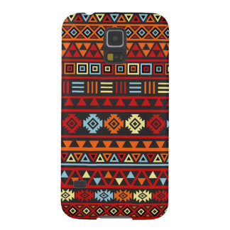 Aztec Style Pattern - Orange Yellow Blue Red & Blk Galaxy S5 Cover