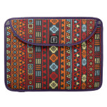 Aztec Style Pattern - Orange Yellow Blue Red & Blk Sleeve For MacBooks