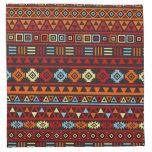 Aztec Style Pattern - Orange Yellow Blue Red & Blk Napkin