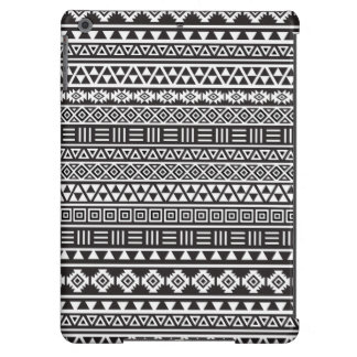 Aztec Style Repeat Pattern – Monochrome iPad Air Cases