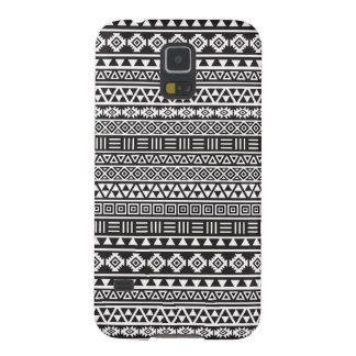 Aztec Style Repeat Pattern – Monochrome Case For Galaxy S5
