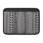 Aztec Style Repeat Pattern - Monochrome MacBook Air Sleeve