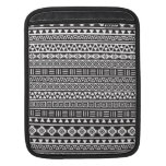 Aztec Style Repeat Pattern - Monochrome Sleeves For iPads