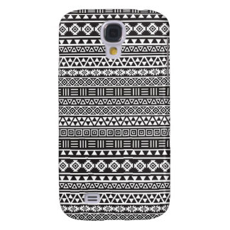 Aztec Style Repeat Pattern - Monochrome Samsung Galaxy S4 Cover