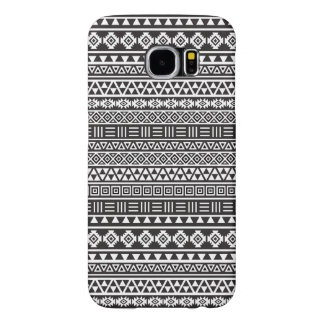 Aztec Style Repeat Pattern – Monochrome Samsung Galaxy S6 Cases