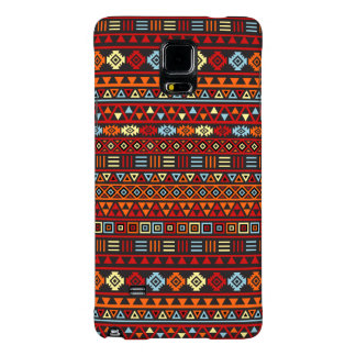 Aztec Style Repeat Ptn - Orange Yellow Red & Black Galaxy Note 4 Case