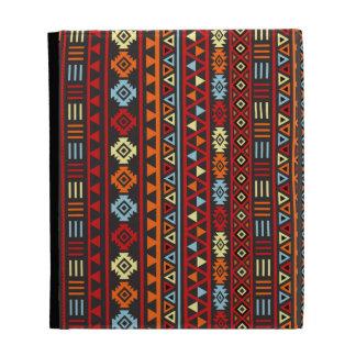 Aztec Style Repeat Ptn - Orange Yellow Red & Black iPad Folio Cases