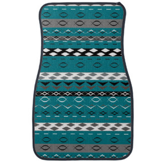 Aztec Style Stripe Patterned Car Floor Mat