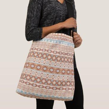 Aztec Themed Aztec Stylized Pattern Blue Cream Terracottas Crossbody Bag