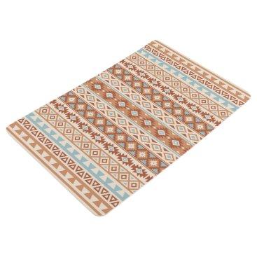 Aztec Themed Aztec Stylized Pattern Blue Cream Terracottas Floor Mat