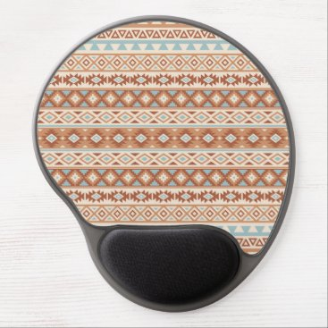 Aztec Themed Aztec Stylized Pattern Blue Cream Terracottas Gel Mouse Pad