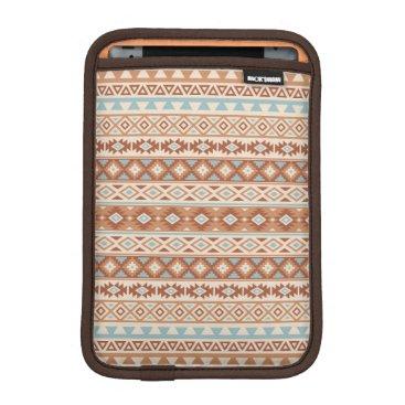 Aztec Themed Aztec Stylized Pattern Blue Cream Terracottas iPad Mini Sleeve